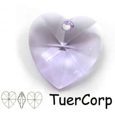 Swarovski heart 28mm violet