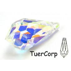 Swarovski tear drop 28mm crystal AB