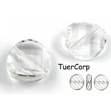 Swarovski twist bead 14mm crystal