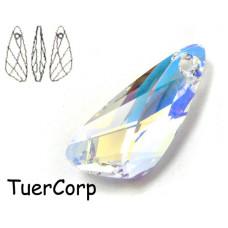 Swarovski wing pendant 27mm crystal AB