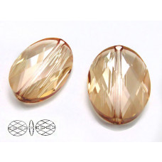 Swarovski oval bead 22mm golden shadow