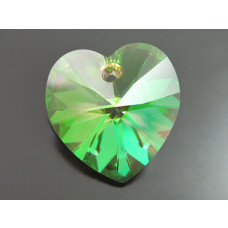 Swarovski heart 18mm luminous green