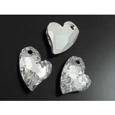 Swarovski devoted 2U heart 17mm comet argent light foiled