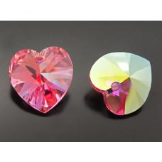 Swarovski heart 14mm rose AB