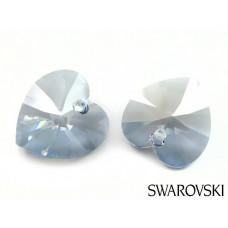 Swarovski heart 14mm blue shade