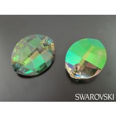Swarovski pure leaf pendant 14mm luminous green