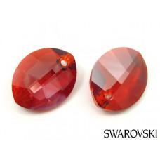 Swarovski pure leaf pendant 14mm red magma