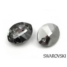Swarovski pure leaf pendant 23mm silver night