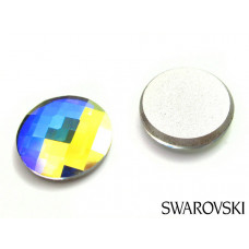 Swarovski 2035 chessboard circle fb 10mm crystal AB