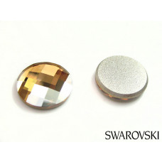Swarovski 2035 chessboard circle fb 10mm golden shadow