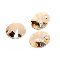Swarovski oval pendant golden shadow 12mm