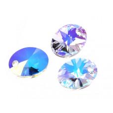 Swarovski oval pendant crystal AB 12mm