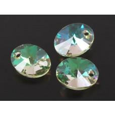 Swarovski oval pendant luminous green 12mm