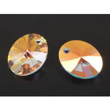 Swarovski oval pendant crystal AB 18mm
