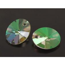 Swarovski oval pendant luminous green 18mm