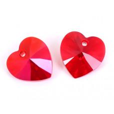 Swarovski heart 14mm light siam