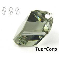 6650 cubist pendant, SWAROVSKI, black diamond 22mm