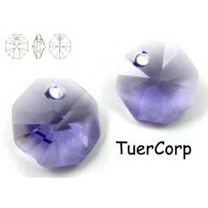 6401 octagon pendant, SWAROVSKI tanzanite