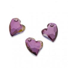 Swarovski devoted 2 u heart lilac shadow 17mm