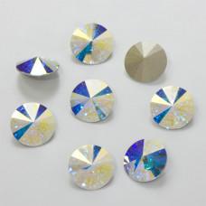 Swarovski rivoli stone crystal AB 14mm