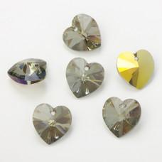 Swarovski heart pendant irdescent green 18mm