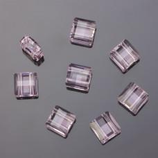 Swarovski stairway bead 2 holes rosaline 10mm