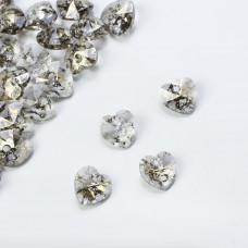 Swarovski heart pendant gold patina 10mm