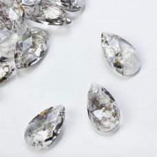 Swarovski pear-shaped silver patina 22mm