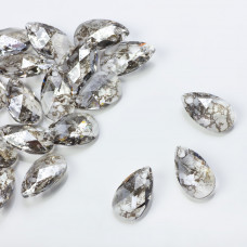 Swarovski pear-shaped silver patina 16mm