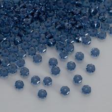 Swarovski rondelle bead denim blue 6mm