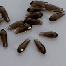 Swarovski pure drop smoky quartz 20mm