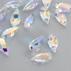 Swarovski twisted drop crystal ab 20mm