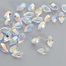 Swarovski twisted drop crystal AB 12mm