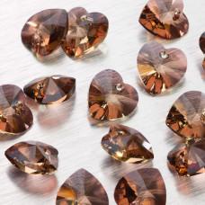 Swarovski heart 14 mm jonquil antique pink