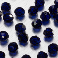 5000 round bead dark indigo  8mm