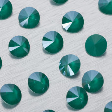 1122 Swarovski rivoli stone Royal Green 12mm