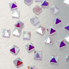 5061 Square spike bead crystal AB 7.5mm