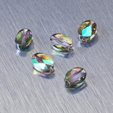 5051 Swarovski mini oval bead 8x6mm Paradise Shine