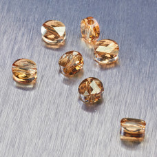 5052 Swarovski mini round bead 6mm Golden Shadow