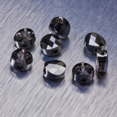 5052 Swarovski mini round bead 6mm Silver Night
