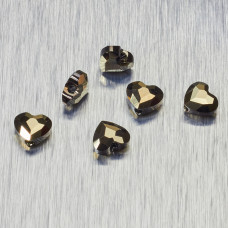 5741 Swarovski love bead 8mm Metalic Light Gold