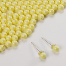 5818 round pearl do kolczyków pastel yellow 4mm
