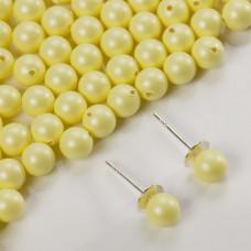 5818 round pearl do kolczyków pastel yellow 6mm