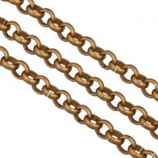 Łańcuch aluminiowy rollo antyczny brąz 11mm