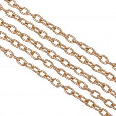 Łańcuch aluminiowy owal gładki rose gold 9x5,6mm
