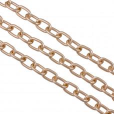 Łańcuch aluminiowy owal gładki  rose gold 14x9mm