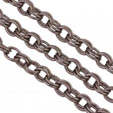 Łańcuch aluminiowy owal podwójny czerniony 14x11mm