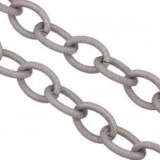 Łańcuch aluminiowy owal kropkowany satynowy 26x19