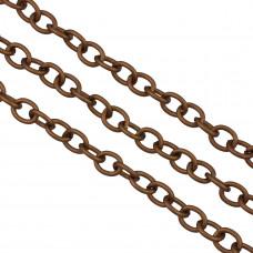 Łańcuch aluminiowy owal gładki brąz 10x8mm