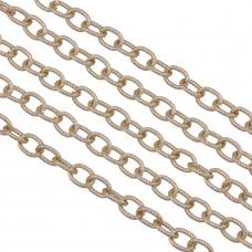 Łańcuch aluminiowy owal skręcany light gold 10x7mm